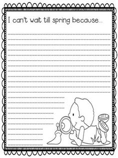 Spring Writing Prompts - 27 fun prompts to welcome the warmer weather! great for 3rd-5th graders, color and make a class bulletin board. Use at a writing center, as morning work, or for emergency sub plans. (K-2 version available also.)