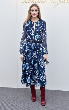 Olivia Palermo - Burberry Fall 2016 show -February 22, 2016 #LFW #AW16