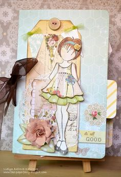 Prima Divine Mini Album and Layout - Paper Lane : Scrapbooking, Creative Arts and Crafts Supplier in the UAE Prima Paper Dolls, Prima Doll Stamps, Book And Frame, Creative Arts And Crafts, Beautiful Handmade Cards, Paper Crafts, Chipboard Crafts, Paper Art, Card Tags