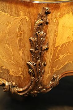 A Rococo Style, Louis XV, Erard Grand Piano For Sale with a Quarter Veneered, French Walnut, Satinwood and Rosewood Case. Cabinet Features Ornately Carved Legs and Cheeks. Beautifully Fine Inlay Adorns All Sides of the Cabinet in a Scrolling Floral Design in Coloured Woods. A Stunning Example of a Rococo Style Piano.
