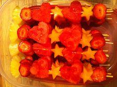 Fruit kabobs <3 by me ☀️sundeity☀️