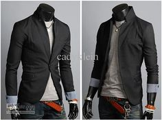 Mens Casual Suits Stylish Korean Style Suits For Men Black Jackets Coats