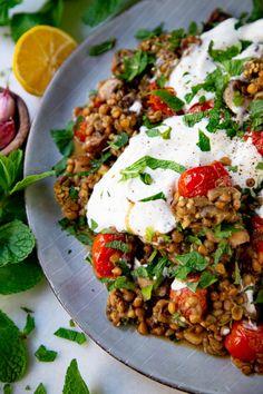 Veggie Dishes, Veggie Recipes, Vegetarian Recipes, Cooking Recipes, Healthy Recipes, Healthy Food, Feel Good Food, I Love Food, Healthy Diners