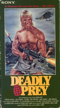 """Needless to say the coolest thing about Deadly Prey (aka Deadly Target), is the really dope painting on the cover of the box! (Deadly Target does not have this dope painting so don't get that version!) I really like the swell knife he put through his sexy shorts on the cover! Don't worry, Mike Danton (Ted Prior), the """"most perfect killer ever,"""" does wear shorts just like that in the movie, maybe they are even shorter! Any ways, Deadly Prey is one of those really good films like Ice-T's """"The…"""