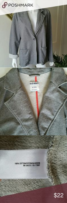 French Terry Blazer Excellent condition soft and comfy 100% cotton blazer. Like wearing your broken in sweatshirt, yet you look polished enough for the office. Great piece for layering! Old Navy Jackets & Coats Blazers