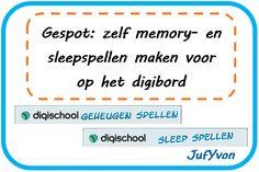 JufYvon: Gespot: zelf memory- en sleepspellen maken voor op het digibord