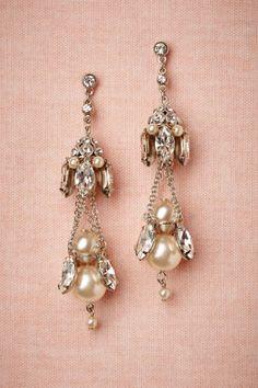 Gilted Pearl Chandeliers in Bride Bridal Jewelry at BHLDN... My wedding earrings!! Loooove!