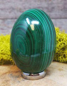 Malachite Crystal Egg -  1260.123 Egg Weight, Crystal Egg, Stone Names, Crystals And Gemstones, Malachite, Terrarium, Amethyst, Eggs, Quartz