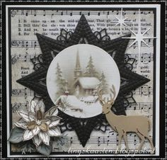 Blue Christmas Decor, Handmade Christmas, Christmas Crafts, Fancy Fold Cards, Folded Cards, Beautiful Christmas Cards, Bday Cards, Embossed Cards, Marianne Design