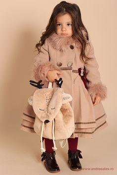 Paltonas fete Paltonaș Antoinette (1-2-3 ani) - beige