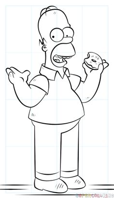 How to draw Homer Simpson | Step by step Drawing tutorials
