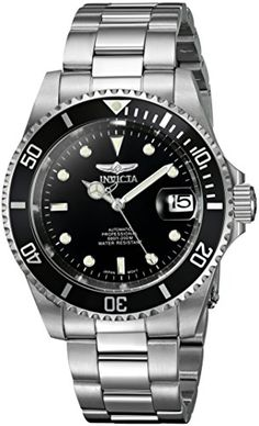 Invicta Mens 8926OB Pro Diver Analog Stainless Steel Automatic Watch with Link Bracelet -- Visit the image link more details. (Note:Amazon affiliate link)