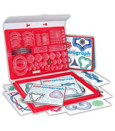 Kahootz-Spirograph Super Kit. The classic interchangeable spiro- tracks let you create your own unique pattern shapes, taking your designs to a whole new and super level. This 13x18x1-1/2 inch package