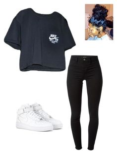 """Untitled #30"" by ashleyfashionstyle ❤ liked on Polyvore featuring mode, NIKE et J Brand"