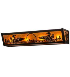 "24""W Loon Vanity Light"