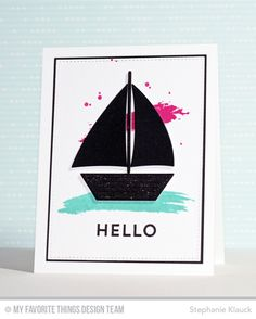 Abstract Art, Go Overboard, Sailboat Die-namics - Stephanie Klauck  #mftstamps