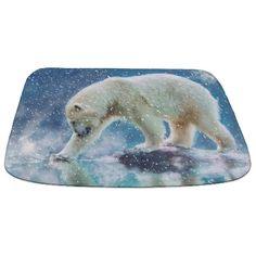 A polar bear at the water Bathmat by Gatterwe - CafePress Bath Products, Polar Bear, Color Combinations, Bath Mat, Water, Prints, Design, Colour Combinations, Water Water