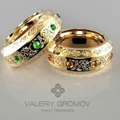 The Opulent Ring (yellow gold & emeralds) by Valeriy Gromov