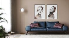 Beautiful art prints illustrated by Norwegian artist and designer Linda Skaret, available in several sizes. Best Bedroom Colors, Living Room Interior, Scandinavian Style, Gallery Wall, Painting & Drawing, Packaging, Art Prints, Beautiful Ladies, Illustration