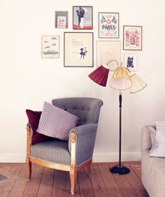 The chair, the lamp, the floor, love everything!