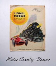 Vintage 1963 Lionel Model Railroad Trains Catalog 027 Super O HO Motor Racing | eBay