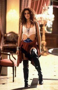 En la imagen,  Julia Roberts como Vivian Wart. Su traje de prostituta estaba inspirado en un bañador de los años 60