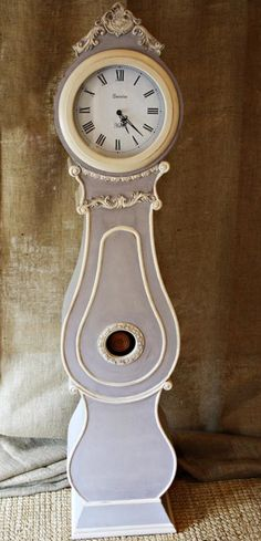 Allissias Attic Design & Vintage French Style — Grandfather clock- French Grey with off white Trim French Grey, French Style, French Vintage, Grandmother Clock, Feminine Names, Attic Design, Guest Suite, White Trim, Painted Furniture