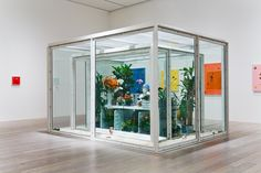 """adamrobinsonart: """" 'The Collector' by Damien Hirst 2003 - 2004 (Source: Damien Hirst's website) """" Damien Hirst, Selfies, Modern Art, Contemporary Art, Glass Boxes, Thinking Outside The Box, Window Design, Office Interiors, Box Art"""