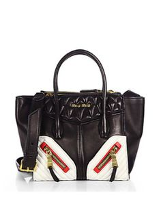 MIU MIU Biker Small Nappa Twin Pocket Satchel