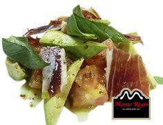 Ensalada de aguacate y jamón ibérico #MonteRegio