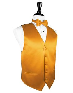 "Tangerine ""Premier"" Satin Tuxedo Vest"