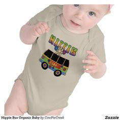 Shop Hippie Bus Organic Baby Baby Bodysuit created by CowPieCreek. Organic Baby, Organic Cotton, Boho Boutique, Tee Shirts, Tees, Consumer Products, Baby Bodysuit, American Apparel, Baby Baby