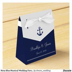 Navy Blue Nautical Wedding Favor Boxes Tent