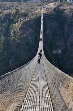 Topmost and largest suspension bridge in Nepal