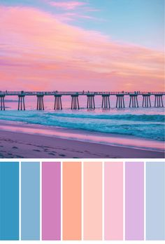 Beach sunset color pallet