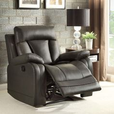 Dorland Bonded Leather 1-Piece Recliner in