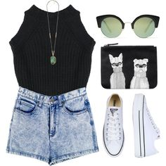 #643 by maartinavg on Polyvore featuring Afends, Converse, Monki, Forever 21 and Cheap Monday