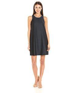 340b441539997 Calvin Klein Women s Trapeze Denim Dress