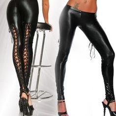 Sexy Lace Up Leggings