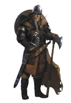 Male Human Viking Fighter - Pathfinder PFRPG DND D&D 3.5 5th ed d20 fantasy