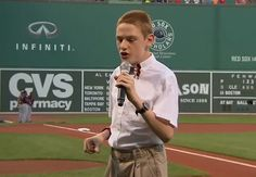 Blind teenager with Autism sings the national anthem at Boston Red Sox game