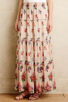 Wildflower Fields Maxi Skirt - anthropologie.com