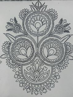 Saree Embroidery Design, Embroidery Neck Designs, Embroidery Patterns, Hand Embroidery, Mandala Sketch, Ancient Egypt Art, Art Sketchbook, Lace Applique, Doodle Art
