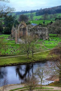 Join me at Stephen Candler Photography ¦ Google+ ¦ Twitter  Looking down on Bolton Abbey, North Yorkshire, England.
