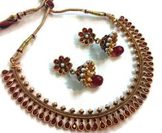 Get Extra 10% Discount On  Jewellery Red #Necklace Set  Use Coupon Code - CSI-Div102015  #jewellery #craftshopsindia