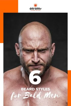 Going bald with a beard is a hot trend nowadays! In fact, studies show that women love bald men with beards!  Read on to learn 6 great #beardstyles Bald Head With Beard, Bald Men With Beards, Types Of Beards, Great Beards, Awesome Beards, Beard Styles For Men, Hair And Beard Styles, Badass Beard, Best Beard Oil