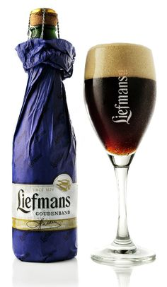 Liefmans Goudenband is a Flemish Old Brown strong ale (Zwaar, Oudenaards Oud Bruin ale) with an alcohol content of ABV. Goudenband beer is brewed by Liefmans craft blenders. Tequila, Vodka, Whisky, Gin, Beer Shop, Dark Beer, Belgian Beer, Beer Brands, Brew Pub