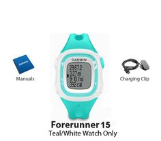 The Garmin Forerunner 15S is a lightweight comfortable GPS running watch that tracks your distance, pace and calories.