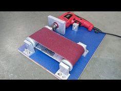 Como fazer uma Lixadeira de cinta caseira - YouTube