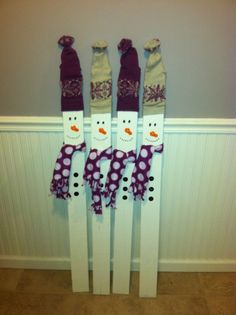 Picket Fence Snowmen!